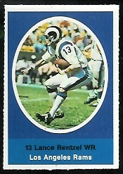 Lance Rentzel 1972 Sunoco Stamps football card