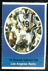 Roman Gabriel 1972 Sunoco Stamps football card