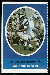 Les Josephson 1972 Sunoco Stamps football card