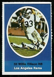 Willie Ellison 1972 Sunoco Stamps football card