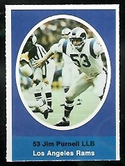 Jim Purnell 1972 Sunoco Stamps football card