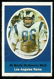 Marlin McKeever 1972 Sunoco Stamps football card