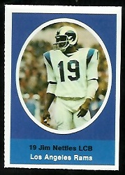 Jim Nettles 1972 Sunoco Stamps football card