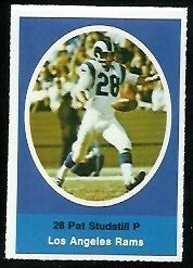 Pat Studstill 1972 Sunoco Stamps football card