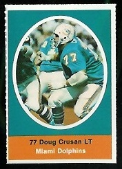 Doug Crusan 1972 Sunoco Stamps football card