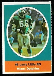Larry Little 1972 Sunoco Stamps football card