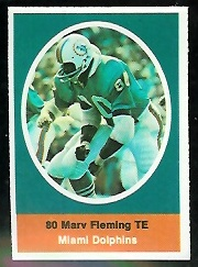 Marv Fleming 1972 Sunoco Stamps football card