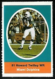 Howard Twilley 1972 Sunoco Stamps football card