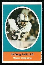 Doug Swift 1972 Sunoco Stamps football card