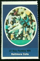 Ray Perkins 1972 Sunoco Stamps football card