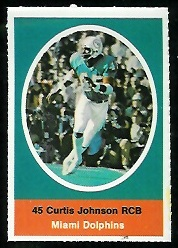 Curtis Johnson 1972 Sunoco Stamps football card