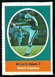 Larry Seiple 1972 Sunoco Stamps football card