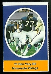 Ron Yary 1972 Sunoco Stamps football card