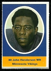 John Henderson 1972 Sunoco Stamps football card