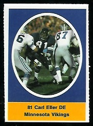 Carl Eller 1972 Sunoco Stamps football card