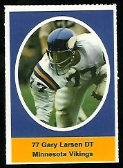 Gary Larsen 1972 Sunoco Stamps football card