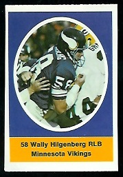Wally Hilgenberg 1972 Sunoco Stamps football card