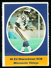 Ed Sharockman 1972 Sunoco Stamps football card