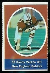 Randy Vataha 1972 Sunoco Stamps football card