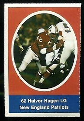 Halvor Hagen 1972 Sunoco Stamps football card