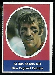 Ron Sellers 1972 Sunoco Stamps football card