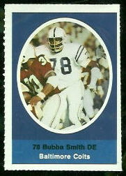 Bubba Smith 1972 Sunoco Stamps football card