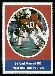 Carl Garrett 1972 Sunoco Stamps football card