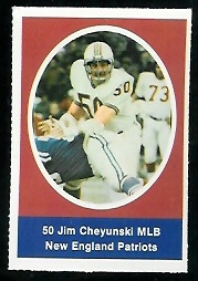 Jim Cheyunski 1972 Sunoco Stamps football card