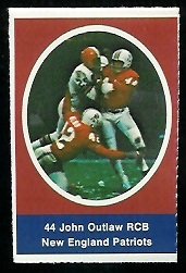 John Outlaw 1972 Sunoco Stamps football card