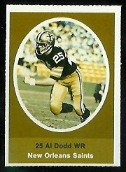 Al Dodd 1972 Sunoco Stamps football card