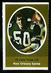 Jake Kupp 1972 Sunoco Stamps football card