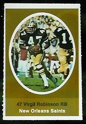 Virgil Robinson 1972 Sunoco Stamps football card
