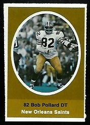 Bob Pollard 1972 Sunoco Stamps football card