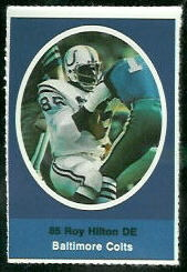 Roy Hilton 1972 Sunoco Stamps football card