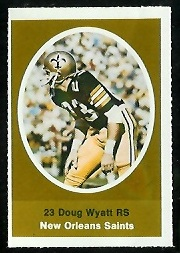 Doug Wyatt 1972 Sunoco Stamps football card