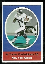 Tucker Frederickson 1972 Sunoco Stamps football card