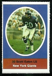 Scott Eaton 1972 Sunoco Stamps football card