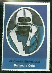 Charlie Stukes 1972 Sunoco Stamps football card