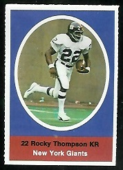 Rocky Thompson 1972 Sunoco Stamps football card