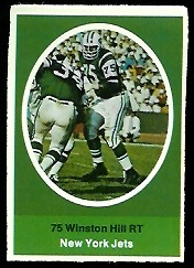 Winston Hill 1972 Sunoco Stamps football card