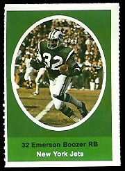 Emerson Boozer 1972 Sunoco Stamps football card