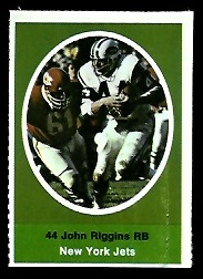 John Riggins 1972 Sunoco Stamps football card