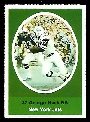 George Nock 1972 Sunoco Stamps football card