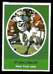 John Little 1972 Sunoco Stamps football card