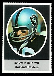 Drew Buie 1972 Sunoco Stamps football card