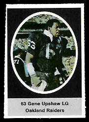 Gene Upshaw 1972 Sunoco Stamps football card