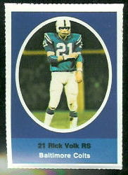 Rick Volk 1972 Sunoco Stamps football card