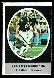 George Buehler 1972 Sunoco Stamps football card