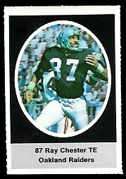 Raymond Chester 1972 Sunoco Stamps football card