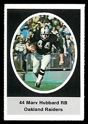 Marv Hubbard 1972 Sunoco Stamps football card